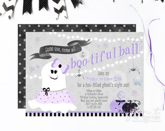 Bootiful Ball - Ghost Halloween Party Invitations - Ghouls Night Out