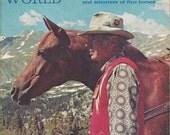 Vintage Arabian Horse World Magazine, Back Issue April 1973