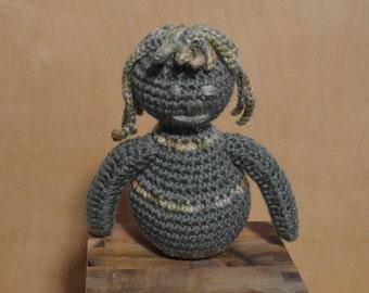 Green Roller, Green Critter, Crochet Critter, Alien