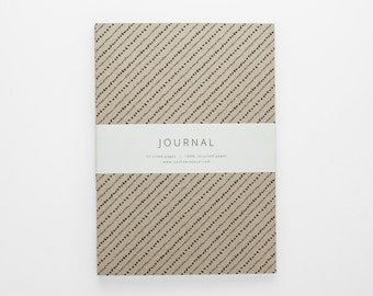 TERRAIN III stripe journal A5 with lined pages