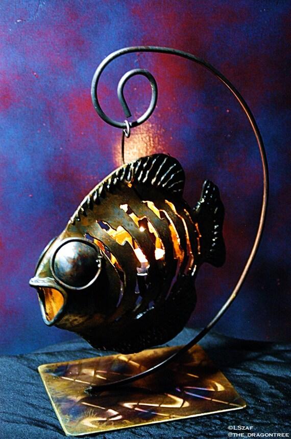 Patio fish, custom indoor/outdoor candle holder