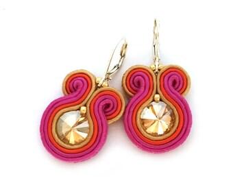 Bridesmaids earrings - soutache earrings - autumn bridesmaids earrings - birthday gift - bridesmaids gift fall wedding - wholesale jewelry