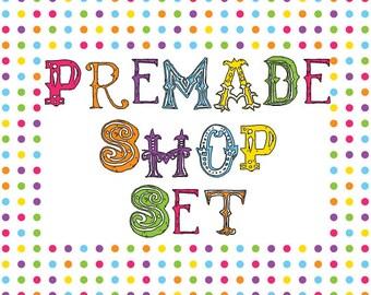 Premade Etsy Shop Set - Design 111