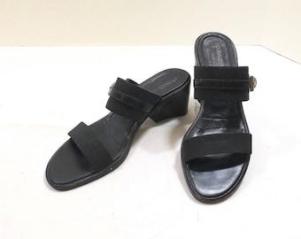 DONALD J. PLINER Black Slides Size 7M
