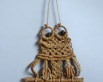 Adorable Frog Macrame Wall Decor Art