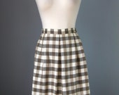 Gray and Taupe Plaid Skir...