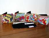 Superhero wallet ,  Superhero Money Clip, boys wallet, fabric wallet, childs wallet, handmade childs wallet, superhero childs wallet