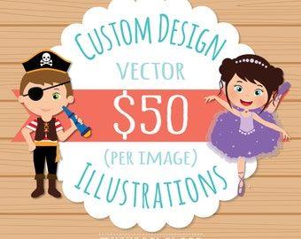Custom Illustration Clipart, Exclusive Commercial use clipart, Graphic Design, vector clipart, myclipartstore