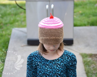 ALL SIZES/COLORS Cupcake Beanie Crochet