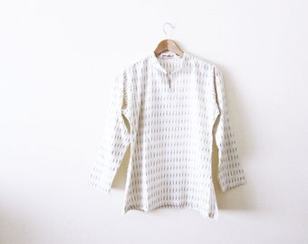 Indian Cotton Tunic Top / Indigo / Bohemian Clothing / Hippie Shirt