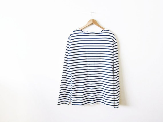 Striped breton shirt mens french stripe breton shirt xl for Striped french sailor shirt