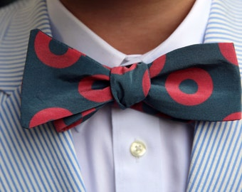 Men's Phish Bowtie - Silk Crepe de Chine Fishman Fabric - Phish Accessory, Phish Gift