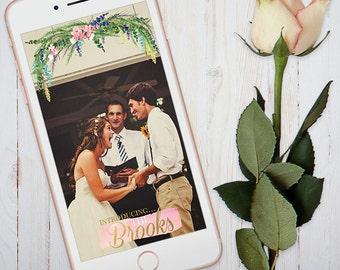 Snapchat Geofilter - Wedding - Rustic - Filter - Floral - Custom