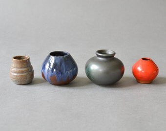 Vintage pottery west German instant vases collection miniature 60s Modern Mid-Century