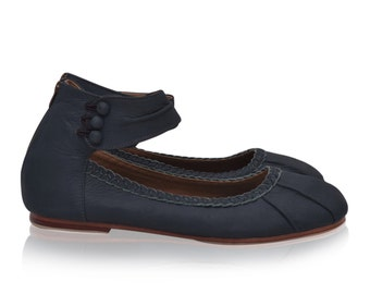 SALE. Sz. 9.5. MUSE. Leather shoes woman / ballet flats / flat shoes / leather flats / womens shoes size 9.5 / shoes flats / shoes handmade