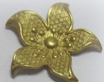 23MM 5 Petal Flower Raw Brass Stamping Rose