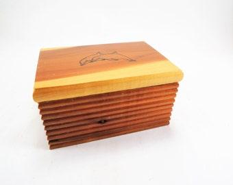 Souvenir Cedar Box, Virginia Beach, Travel Memorabilia, Travel Souvenir, Trinket Box, Cedar Trinket Box, Retro Travel Souvenir, Beach Gift