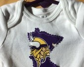 Minnesota Vikings Baby Onesie ~ Size 0-3 Months ~ Child of Mine by Carter's ~ Cotton ~ Great Gift for the young Viking's fan ~ Unique ~