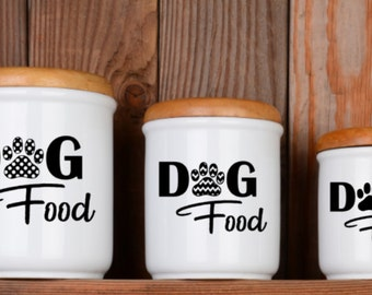 Dog Food Decal \ Dog Food Storage \ Dog Food Container Decal \ Dog Decal \ Dog Stickers