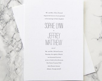 FLAT SAMPLE  |  Minimalist Chic Suite  |  wedding invitation  |  simple invitation  |  weddings |  custom invitation  |  modern  | clean
