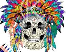 Unique Aztec Headdress Related Items Etsy
