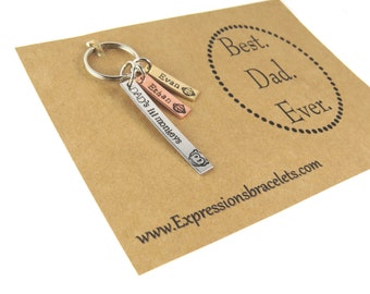 Father's Day Gift Key Chain | Gifts for Dad | Hand Stamped Keychain | Gifts for Fathers | Custom Keychain | Anniversary Gifts | Personalized
