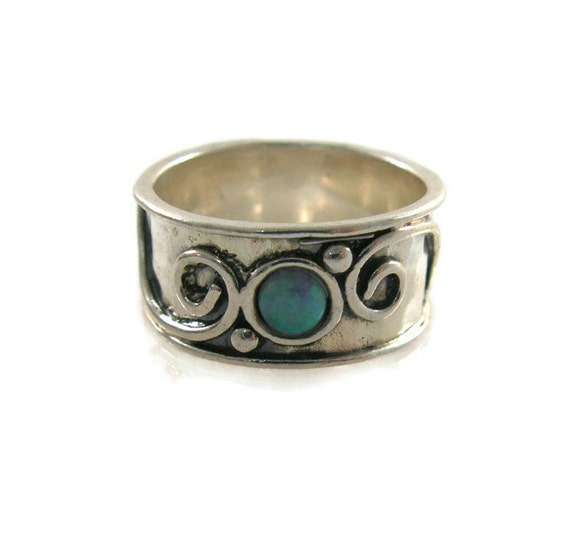 Items Similar To Opal Ring Exquisite Braided Opal: Items Similar To Silver Ring. Sterling Silver Opal Ring