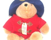 "Vintage 14"" Paddington Bear, Collectible Bear, 31st Anniversary Collectible Doll, Antique Alchemy"