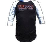 Hal 9000 Shirt - 3/4 Sleeve Baseball Fashion T Shirt - Graphic tees for Men and Women