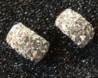 Vintage Hallmarked Swarovski Pierced Earrings