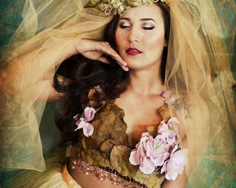 ATHENA floral couture outfit,bra,Bottoms,floral,Petals,halter, outfit, FASHION,roses,bustier,top,rose,