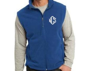 Mens Vest, Fleece Vest, Vest for Men, Monogram Vest, Gifts for Men, Gifts for Dad, Christmas Gift, Christmas Gift Ideas, Personalized Gifts