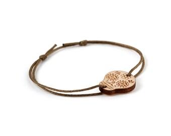 Calavera bracelet - 25 colors - graphic mexican skull bangle - adjustable length - lasercut maple wood - unisex jewelry - customizable