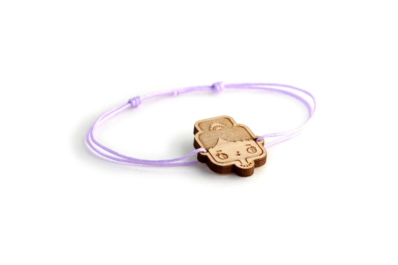 Audrey Hepburn bracelet - 25 colors - cute bangle - adjustable bracelet - lasercut maple wood - graphic jewelry - unisex - customizable