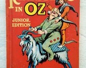 Vintage 1930's Children's Book, Rinkitink in Oz, Junior Edition, L. Frank Baum, Rand Mcnally Product
