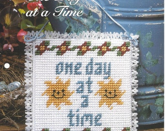 One Day At A Time Plastic Canvas Pattern, Home Decor, Picture, Wall Hanging, Wall Decor - The Needlecraft Shop