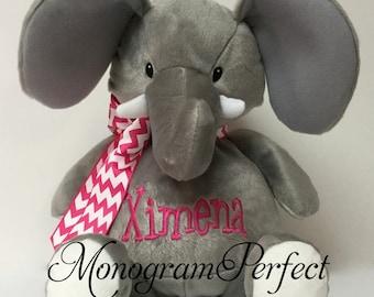 "16"" Personalized Plush Stuffed Elephant Soft Toy"