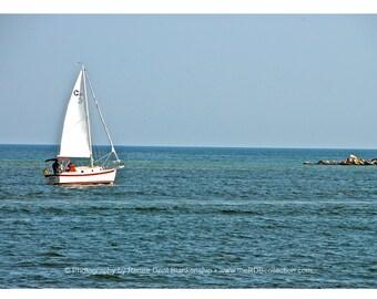 Sailboat along Gulf Coast Photograph