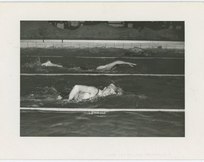 Swimmers, 1950s-60s: Vintage Snapshot Photo (65459)