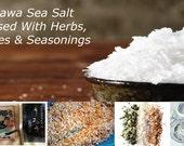 Olive Leaf Sea Salt, Okinawa Sea Salt infused with spices, herbs and seasonings,