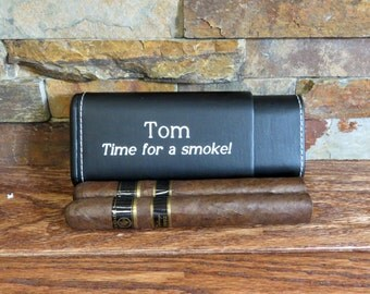Personalized Cigar Case, Groomsmen, Groomsman Gift, Best Man, Fathers day, Gifts for Men, Grandfather, Cigar Accessories, Uncle