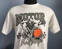 80s 90s Vintage Detroit Pistons Motor City Bad Boys Grim Reaper T-Shirt - XL X-LARGE