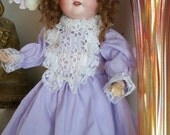 Sweet, Angelic Antique German Armand Marseille Bisque Head 390 Doll - Desirable, 16 Inch Cabinet Sized Victorian Dolly Faced Doll