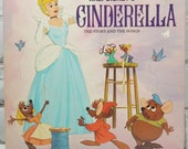 Walt Disney's Cinderella. Disneyland Record Album. 1970. The Story and the Songs. Book and Long Playing Record. Circa 1964.