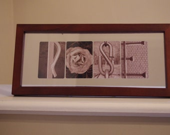 Photo Letter Glass Frame