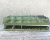 Vintage Industrial Factory Stacking Parts Bins Storage (One Unit of Five Bins)