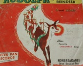 Rudolph the Red Nosed Reindeer Kids Novelty Record Storytime Books Vintage Babysitter