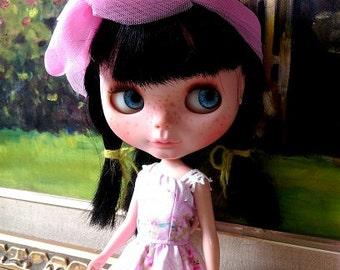 Pink Blythe  dress and veil headband outfit set