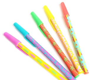 Set of 5 Cute Pens Summer