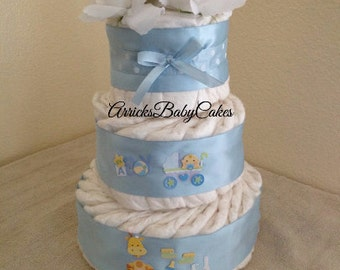 The Bouncin Baby Boy 3 Tier Diaper Cake
